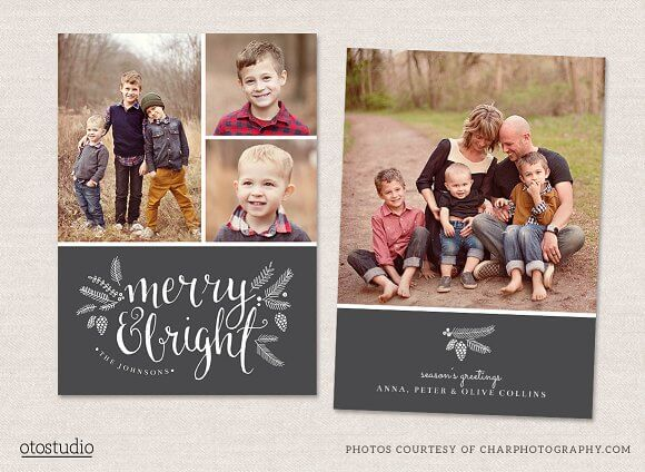Christmas card template-1