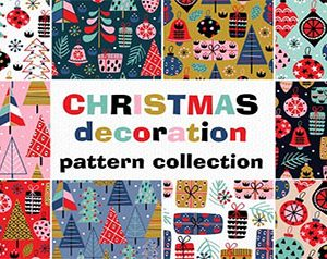 Christmas decorations pattern set