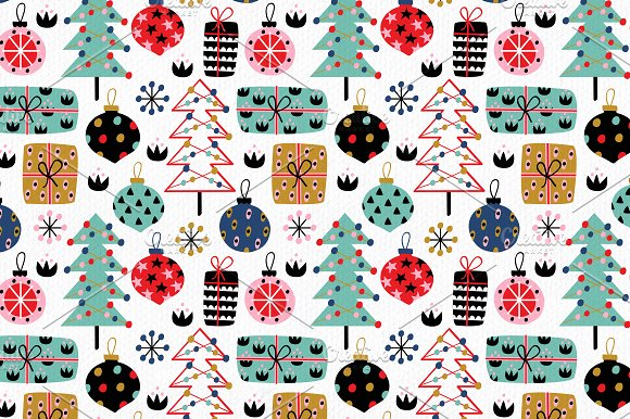 Christmas Decorations Pattern Set