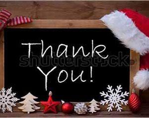 Christmas thank you stock 1