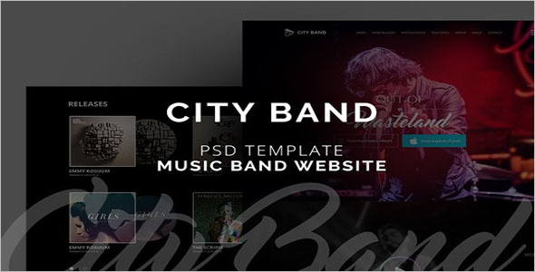 City Musical Band PSD Template