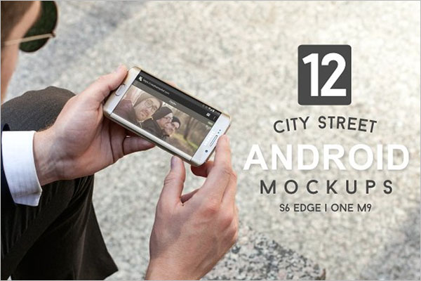 City Street Android Mockups