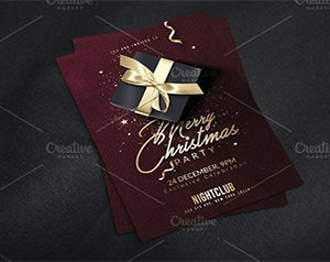 Classy Christmas Invitation Flyer Templates