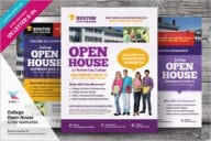 College Open House Flyer Design