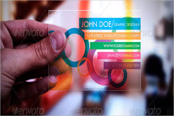 Color Transparent Business Card Design