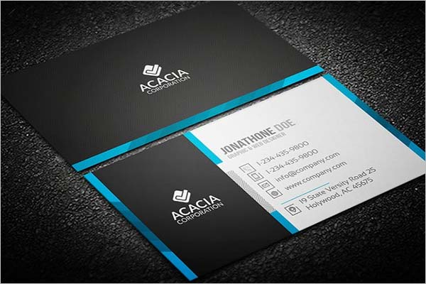 Corporate Sleek Business Card Design
