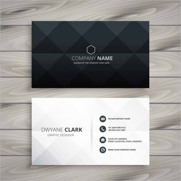 Corporative Black Business Card Design