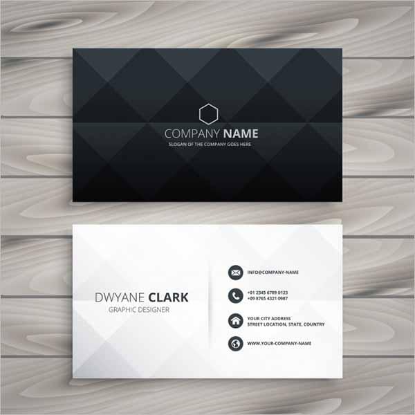Corporative Black Business Card Design