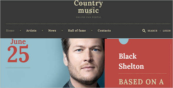 Country Music Website Template