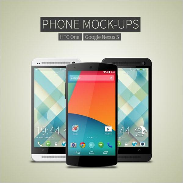 Creative Android Phone Mockup