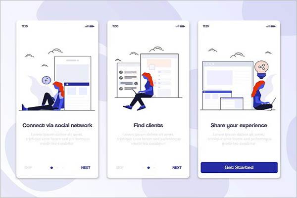 Creative App Screen Mockup Design