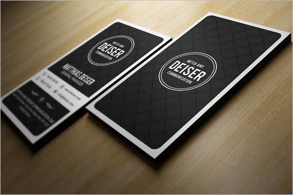 Creative Black Business Card Design