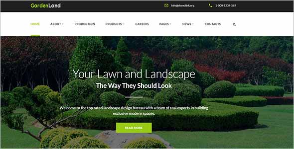 Creative Gardening Website Template1