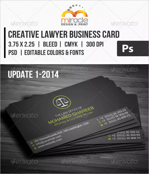 Creative Lawyer Business Card