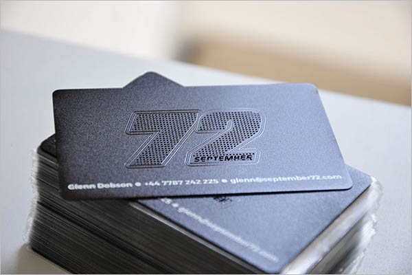 Creative Metal Business Card Design