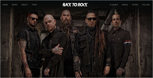 Creative Music Band Website Template