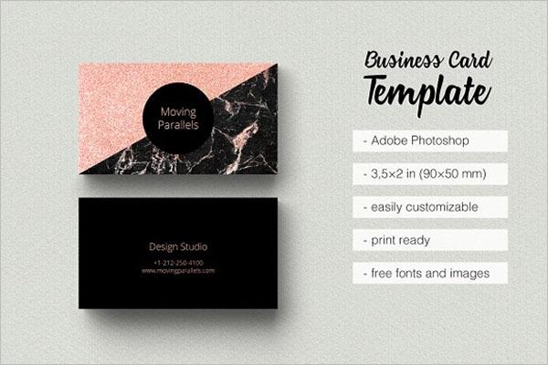 Creative Rose Gold Business Card