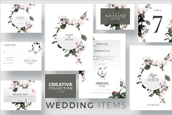 Creative Wedding Collection Postcard