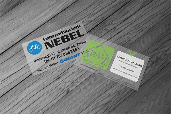 Crystal Transparent Business Card