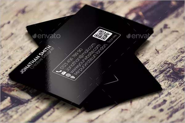 Custom Black Business Card Design