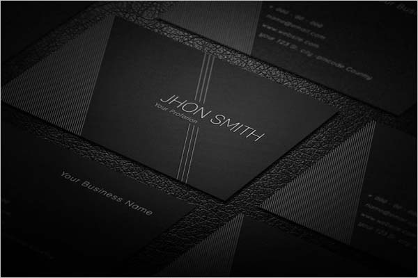 Custom Black Business Card