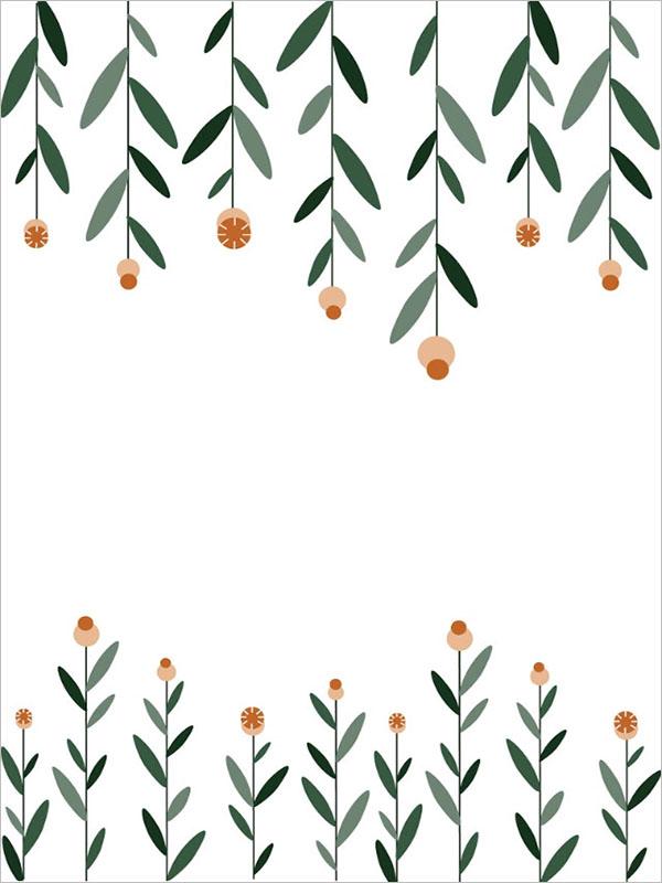 Customizable Floral Postcard Design