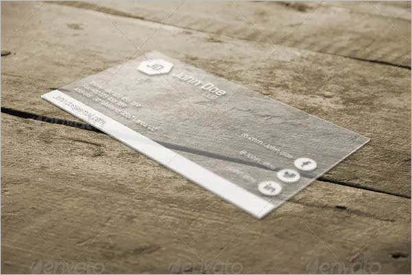 Customizable Transparent Business Card Design