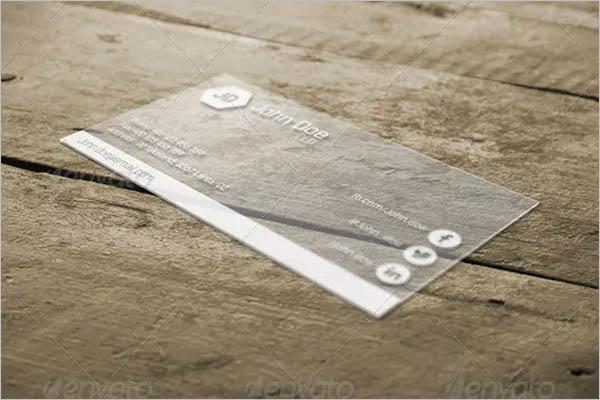 Customizable Transparent Business Card Design