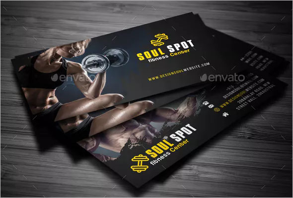 Customize Fitness Business Card Design