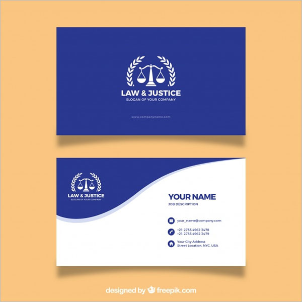 Customize Lawyer Business Card Template