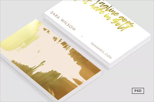 Customize Rose Gold Business Card