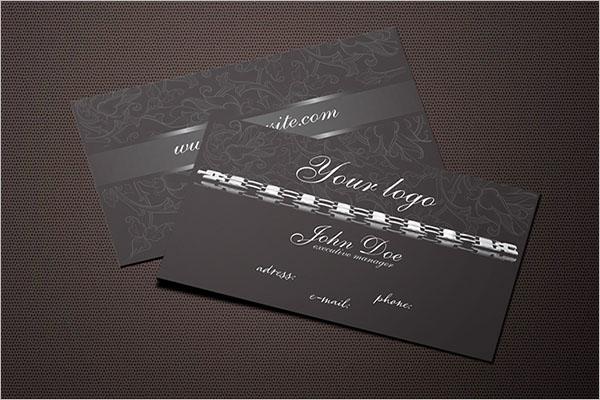 Dark Jewelry Business Card Design
