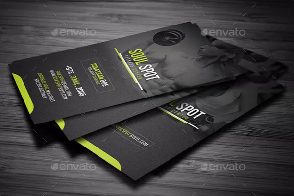 Designed Fitness Business Card Design