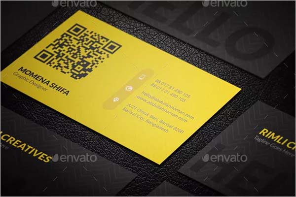 Drak Black Sleek Business Card Design