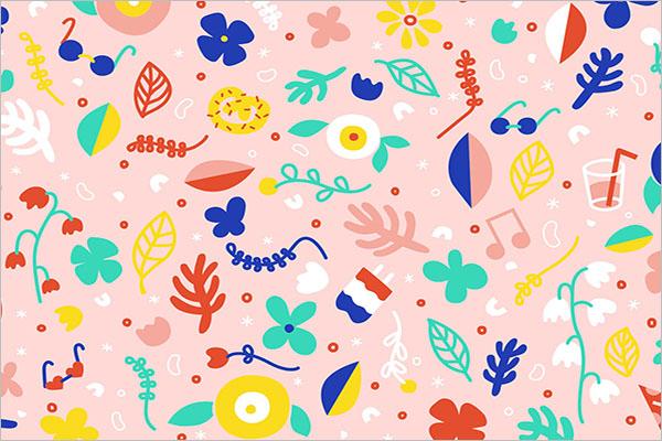 Editable Floral Postcard Template