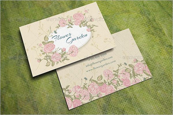 Editable Gardening Business Card