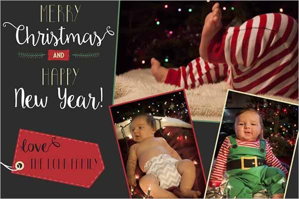 Editable Holiday Postcard Template