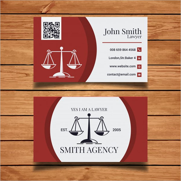 Editable Lawyer Business Card