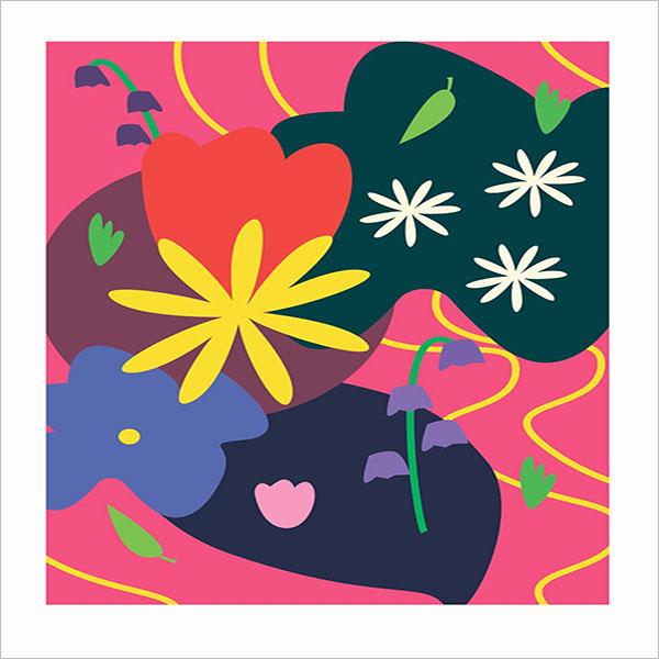 Elegant Floral Postcard Design