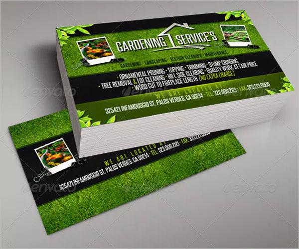 Elegant Gardening Business Card