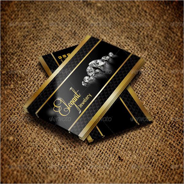 Elegant Jewelry Business Card Design