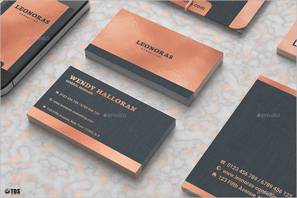 Embossed Rose Gold Business Card