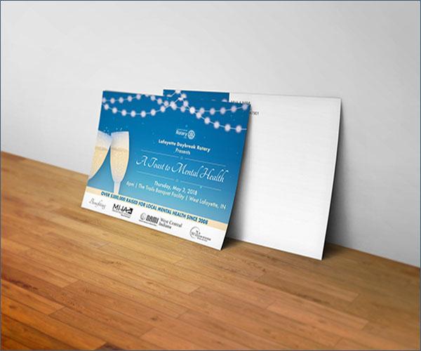 Event Party Postcard Design