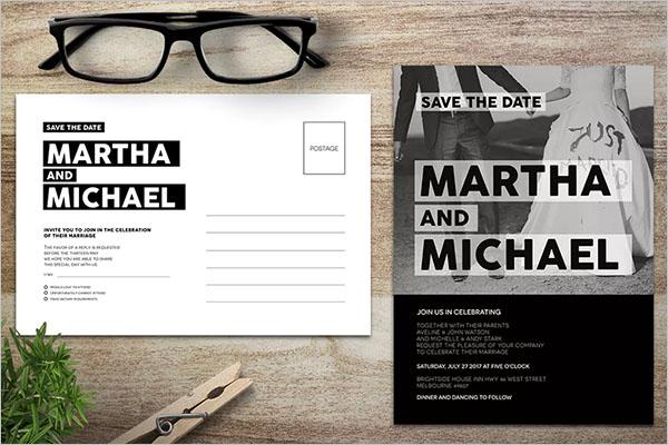 Event Postcard Design Example