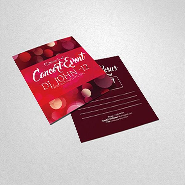 Event Postcard Design Idea
