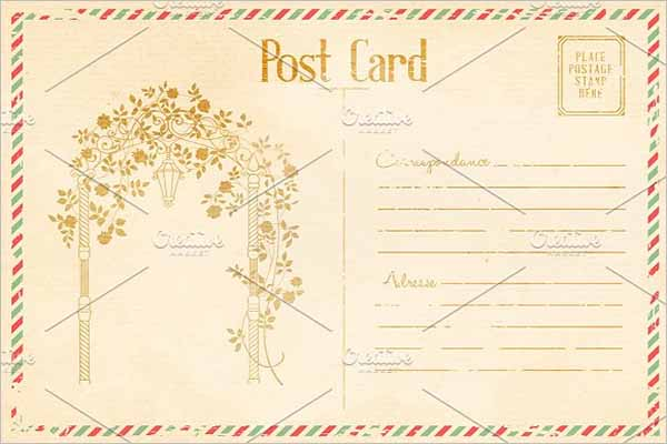 Event Vintage Postcard Design