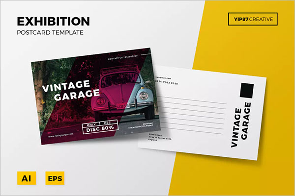 Exhibition Postcard Marketing Design