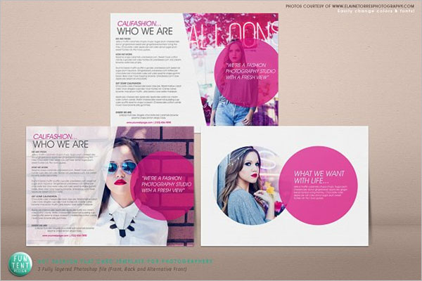 Fashion Postcard Design Marketing