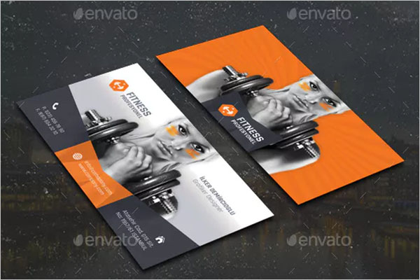 Fitness Business Card Design Example