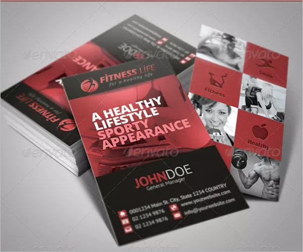 Fitness Business Card Ideas